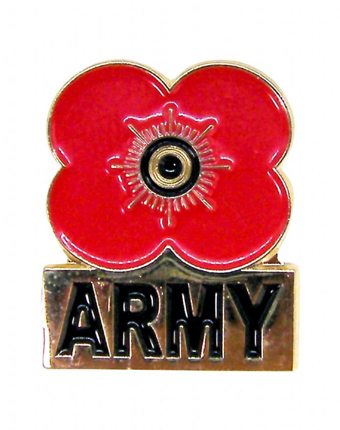 Poppy Pin Badge with the word